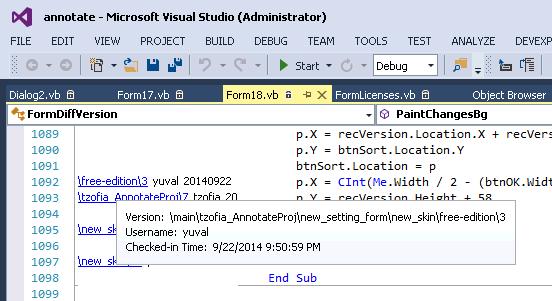 Visual Studio Extension ClearCase plugin