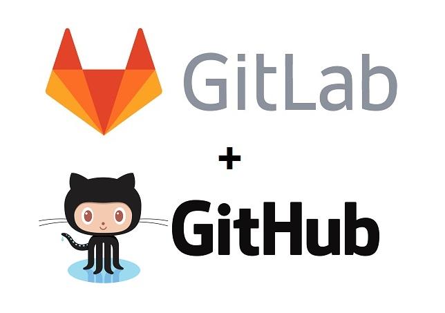 gilab github logos