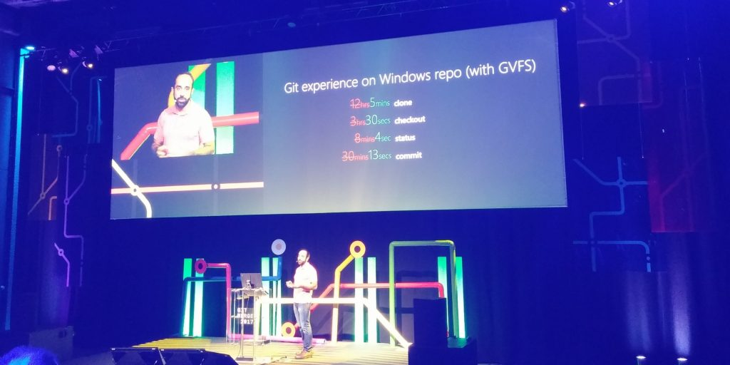 Git experience on Windows repo using GVFS