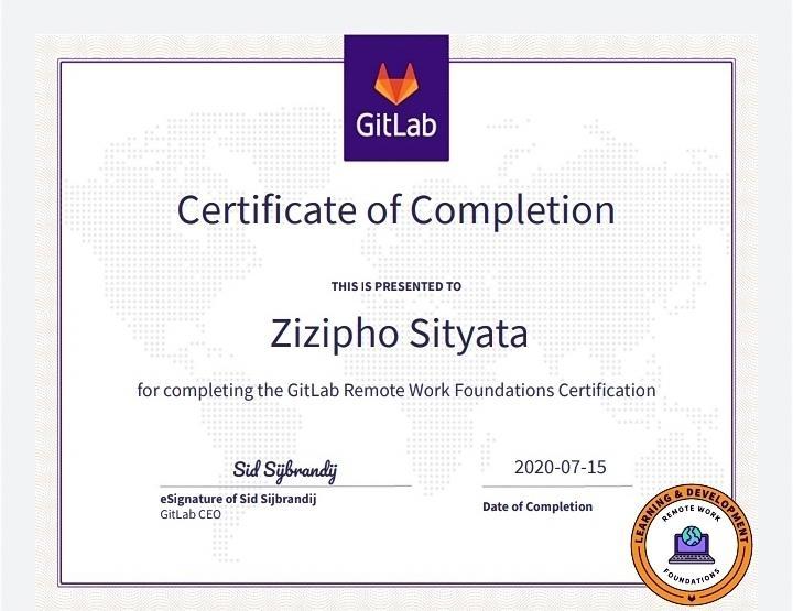 remote work certification gitlab